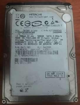 """Disco Rígido 500GB 2.5"""""""