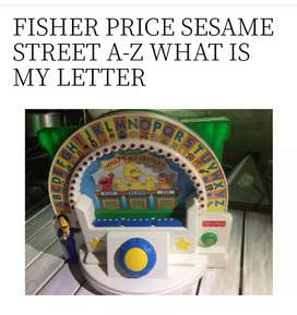 Sesame Street What's my letter Fisher Price Vintage 1995