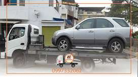 Servicio de gruas en guayaquil grua plataforma autocargable para carro auto vehiculos motos carga liviana dolly patines