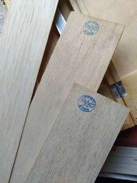 madera balsa en 1 ,, 3 , 4, y 5 mm