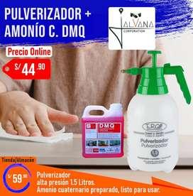 Pulverizador a presión 1.5 Litros + Amonio cuaternario DMQ