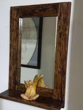 espejo repisa para hoteles, fincas, restaurantes, hogar, baños, bares,