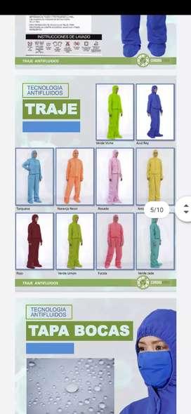 Trajes de colores bioseguridad