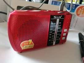 Radio am FM USB SD 3 bandas recargable buen sonido nuevo buen sonido