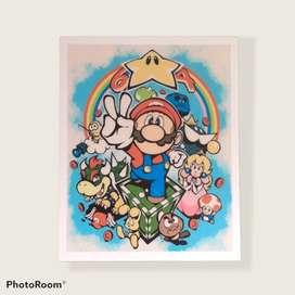 Cuadros personalizados - Súper Mario 64