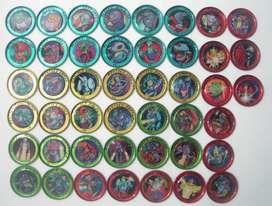 Tazos Chupetin Space Rappers  metálicos  Lote X 45 Arcor