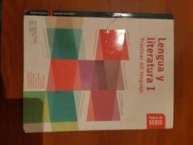 libro secundario lengua y literatura 1 año editorial fuera de serie  con cuadernillo