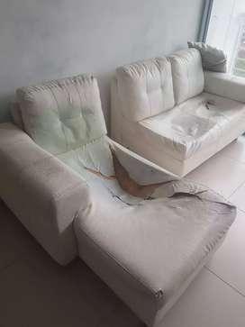 Vendo mueble en L para tapizar