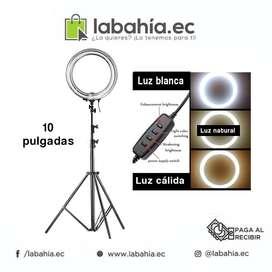 Aro de Luz con tripode 10 pulgadas para fotografia profesional