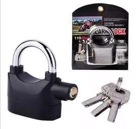 Candado de seguridad con alarma para motos, bicicletas o puertas