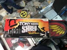 Patineta Tony Hawk: Shred - Skateboard para wii