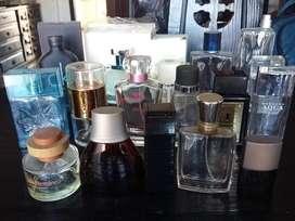 Envases vacios de perfumes importados