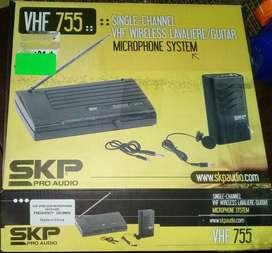 Microfono Inalambrico Skp Vhf 755 Corbatero Nuevo