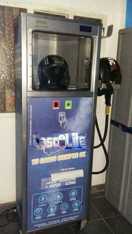Maquina para limpiar y desinfectar cascos
