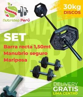 kettlebell Discos Barras Manubrios Pesas