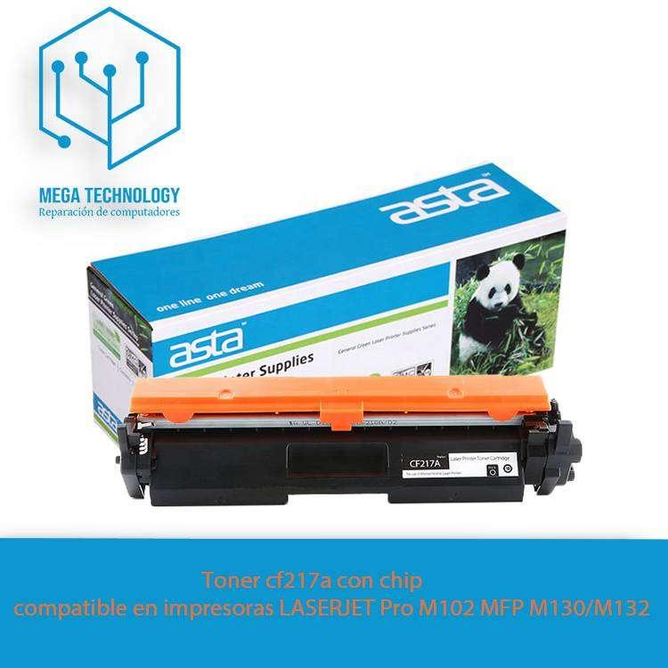 Toner Cf217a / Laserjet M102w / M130fw - Con Chip 0