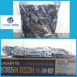 Placa madre GIGABYTE B365M DS3H. Socket 1151. ddr4. UBS 3.1, conector M.2