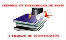 Asesoramiento de Tesis y Trabajos de Investigacion