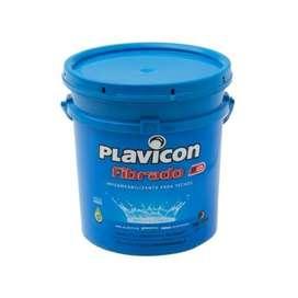 Plavicon Fibrado Impermeabilizante Techos 10kg