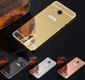 Carcasa Para Huawei Y5 2 Estuche Protector Espejo Aluminio, Negra