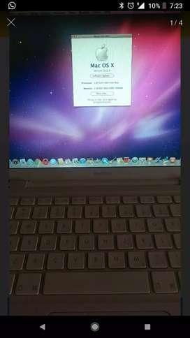Apple MacBook 1181, ram de 2 GB, disco de 80 GB, Mac OS 10.6, 13 pulgadas, sin cargador ni batería