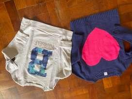 Buzo y sweater nena talle 7 importados