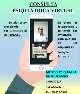 consulta psiquiátrica virtual