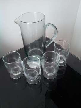 Jarra mas 4 vasos copa
