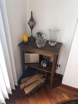 Mesa auxiliar madera