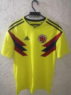 Adidas selección colombia 2018 local y visitante