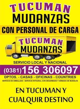 MUDANZAS TUCUMAN 38I6306097 SERVICIO DE EMBALAJE CON O SIN PERSONAL