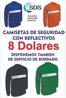 CAMISETAS DE TRABAJO CON REFLECTIVO SOLO 8 DOLARES - NORTE DE QUITO - ENVIOS