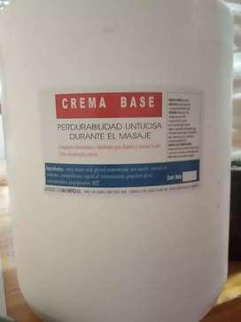 CREMA BASE( varios usos.)MASAJES