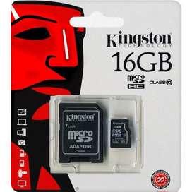 Memoria Microsd Kingston 16gb Clase 10 Uhsi 30mb/seg Original