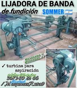 LIJADORA DE BANDA DE FUNDICIÓN SOMMER (máquina carpintería fábrica mueble aserradero ligadora tupí)