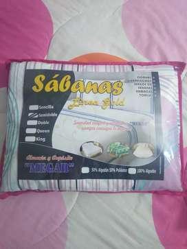 Se vende juego de sábanas para cama semidoble