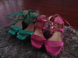 Zapatos Italianos,talla 38 o 39,los 2 por 100mil