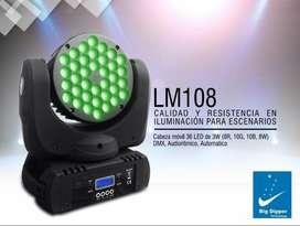 LUZ CABEZA MOVIL Big Dipper LM108 PARLED, AUTO - AUDIO RITMICA - DMX. BUEN PRECIO