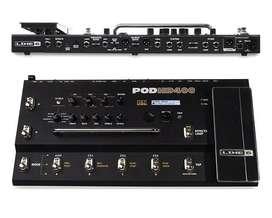 Pedal de Efectos Line 6 Pod HD400, guitarra eléctrica, Multiefectos