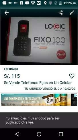 SE VENDE TELÉFONO FIJO EN UN CELULAR
