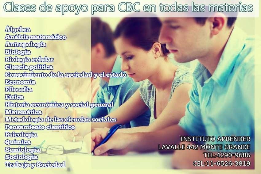 CBC, CLASES DE APOYO EN TODAS LAS MATERIAS EN MONTE GRANDE 0