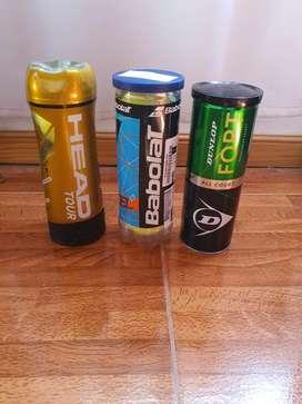 Pelotas tenis padel, tubos nuevos sellados