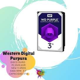 disco duro western digital purpura 3tb teras