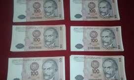 Billetes de colección antiguos