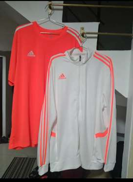 Camiseta y chompa adidas 2 XL