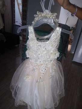 Hermoso Vestido Bautizo Chinchina Cds