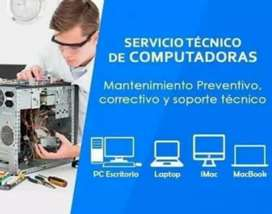 Técnico en computadoras reparación instalación de software y hardware