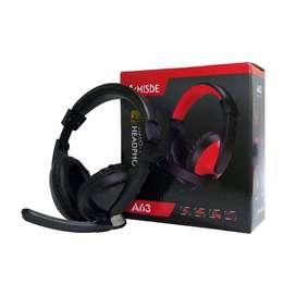 Diadema Gamer Auricular con micrófono para PC A63