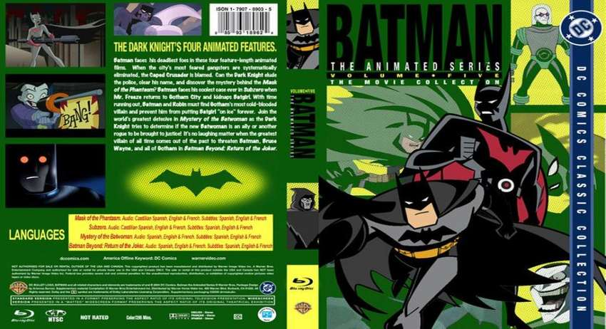 Batman Coleccion de Películas de la Serie Animada Bluray HD. 0