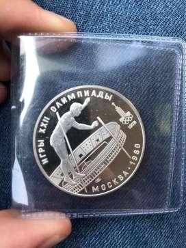 Moneda Rusa en plata 10 Rublos
